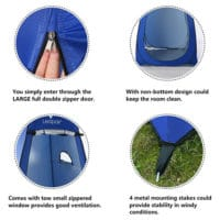 Wolfwise pop up privacy camping tent features and benefits.