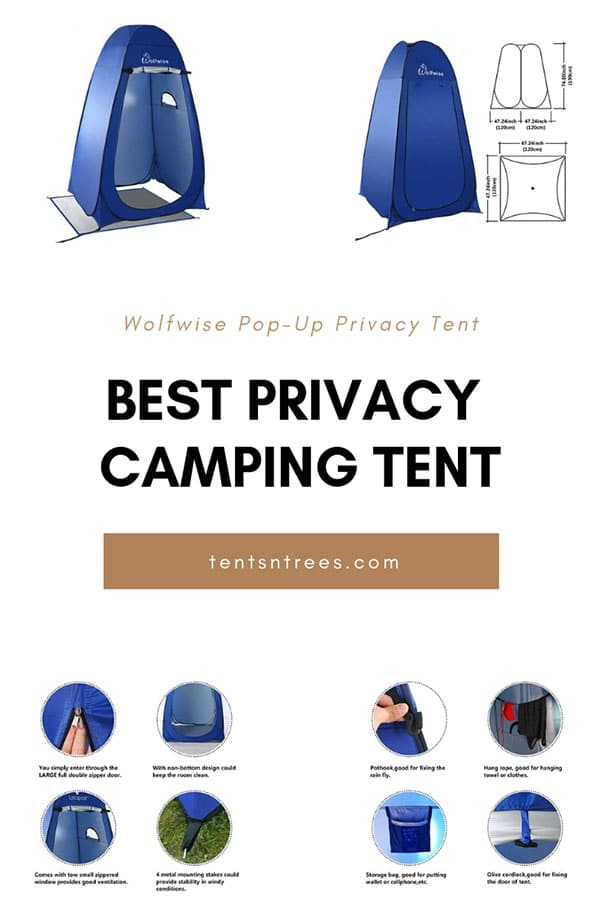 Wolfwise pop-up privacy tent. The best and easiest privacy tent for camping with your family.