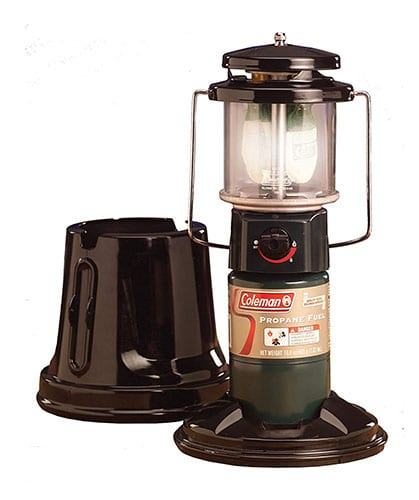 Coleman Quickpack Propane Lantern with storage case.