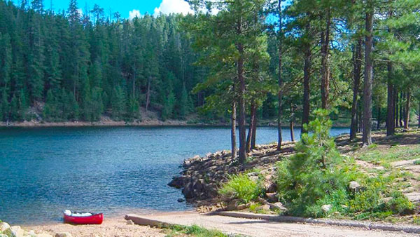 Knoll Lake Campground near Payson, AZ.