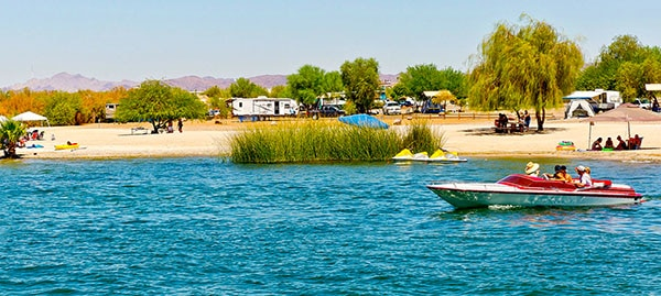 Camping at Lake Havasu State Park.