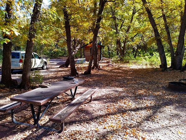 Lower Juan Miller campground in Eastern Arizona.
