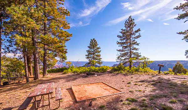 North Rim campground in Arizona