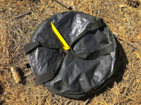 Camco Collapsible Trash Can with stake.