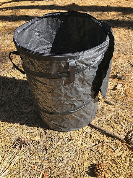 Camco Collapsible Trash Can main view.
