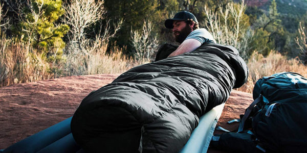 Outdoor Vitals mummy sleeping bag.