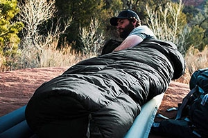 Outdoor Vitals Summit mummy sleeping bag.