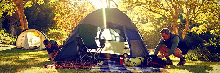 Tent camping and outdoor adventure as a family.