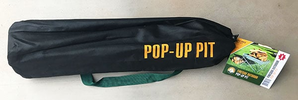 Just the pop-up pit bag