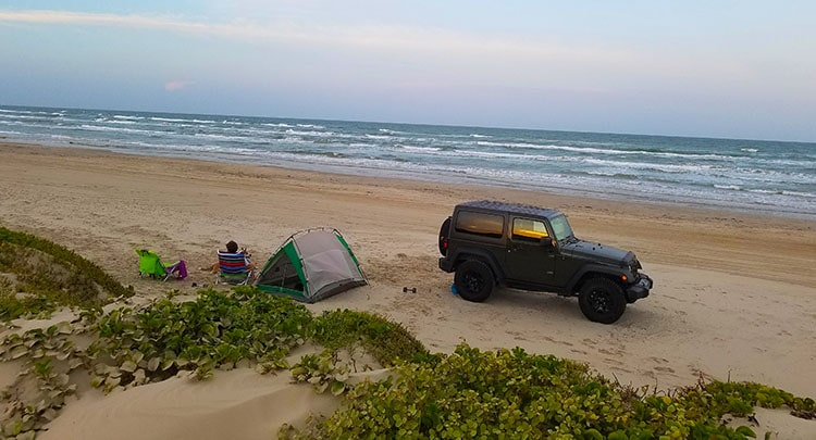 Camping at Padre Island National Seashore