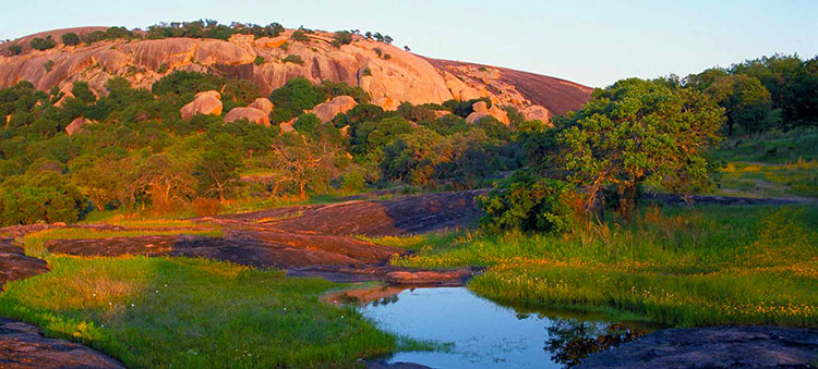 Enchanted Rock State National Area offers great camping.