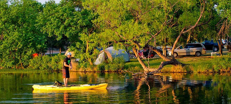 Inks Lake Stat Park camping in TX