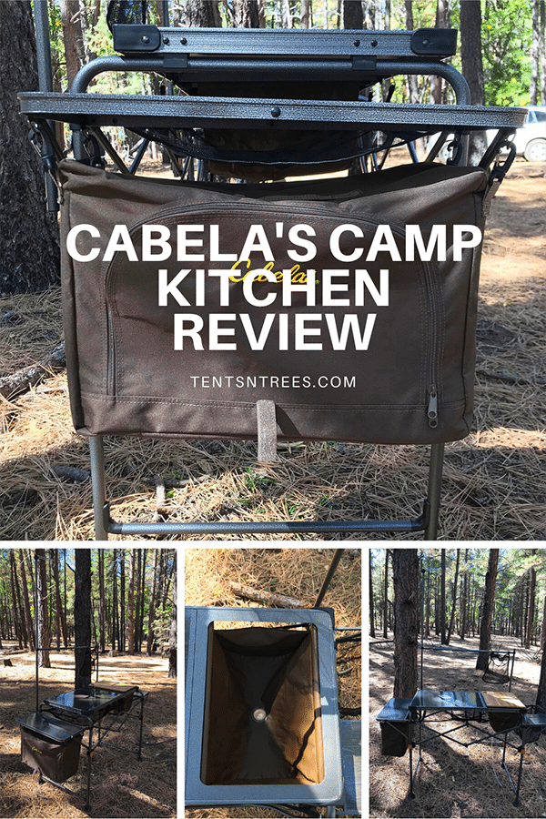 Cabela's Easy-Set Camper's Kitchen Review. #TentsnTrees