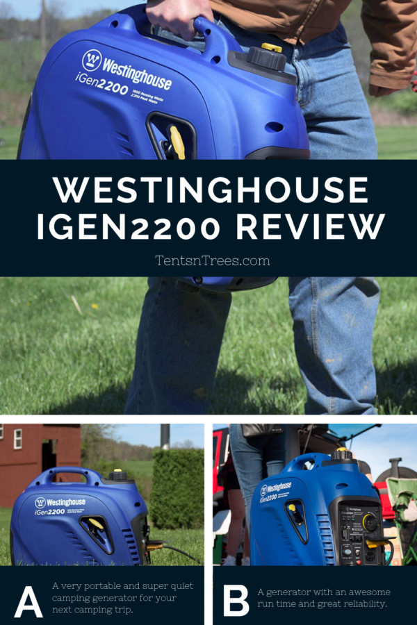 Westinghouse iGen2200 camping generator review. #TentsnTrees