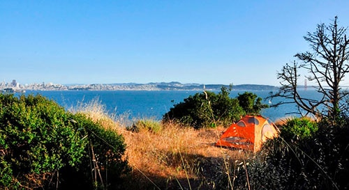Angel Island State Park Campground in California