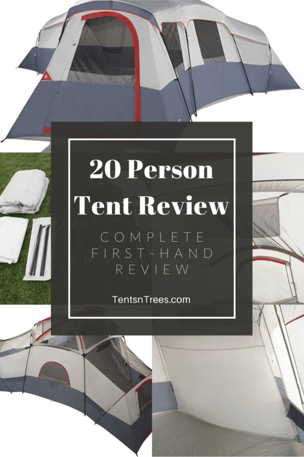 Ozark Trail 20 Person Camping Tent Review #TentsnTrees