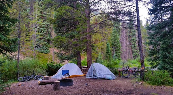 Oh Be Joyful Campground, Places to go camping in colorado