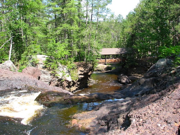 Best camping in Wisconsin, Amnicon Falls State Park