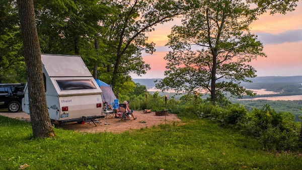 Campig in Wisconsin, Wyalusing State Park