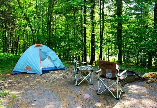 Best places to go camping in Wisconsing, Copper Falls campground