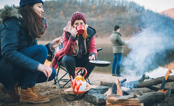 Tips to stay warm while camping