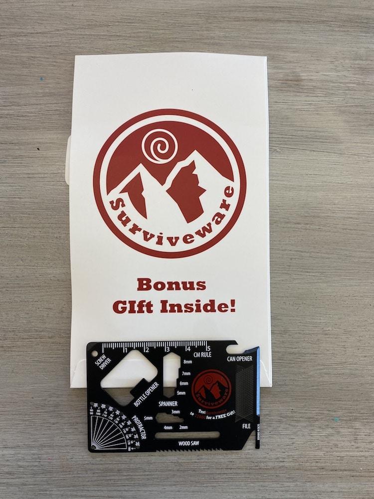 Surviveware Large First Aid Kit bonus