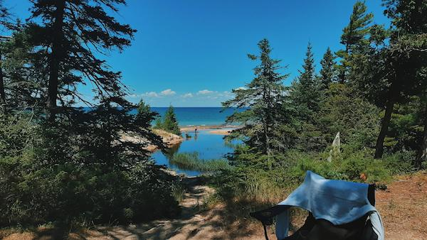 Wilderness State Park camping in Michigan